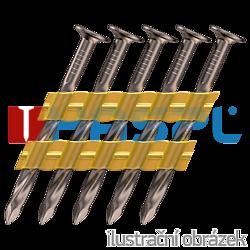 Plastic strip nails 21° 2,8 x 50 mm screw, bright