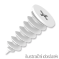 Polystyren plug HDP 23x50 mm, polyamid - 1/2
