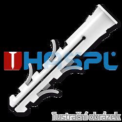 Nylon wall plug with Rim 12x60mm - 1