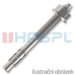 Bolt anchor M10x95 mm, white zinc - 1