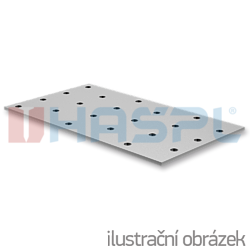 Jointing plate - perforated 100x200x2 - 1