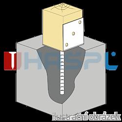 Anchor base to concrete type L 80x80x4,0 - 1