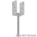 Anchor base to concrete type U 70x60x4,0 - 1/3