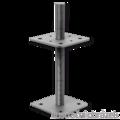 Pillar base 80x80x250x4,0 M24 - 1/2