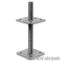 Pillar base 80x80x330x4,0 M24 - 1/2