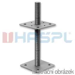 Pillar base loose nut 80x80x330x4,0 M24 - 1