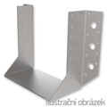 Joist hanger type 1 120x120x2,0 - 1/3
