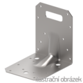 Reinforced angle bracket Type 4 90x105x105x3,0 groove - 1/3