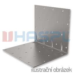 Reinforced angle bracket  90° Type 5 120x35x35x1,5 - 1