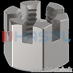 Hexagon castle nut DIN 935 M6 cl.6, galvanized