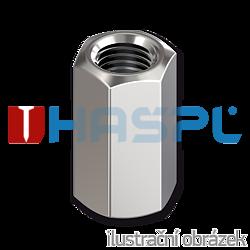 Hexagon coupling nut DIN6334 M14x42, cl.6, galvanized
