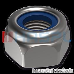 Hexagon self locking nylon nut DIN 985 M12, cl.6, galvanized