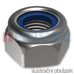 Hexagon self locking nylon nut DIN 985 M5, cl.6, galvanized