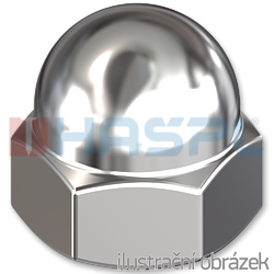 Hexagon domed cap nut DIN1587 M20, cl.6, galvanized