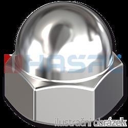 Hexagon domed cap nut DIN1587 M8, cl.6, galvanized