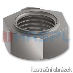 Hexagon weld nuts DIN 922, M5, bright