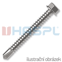 Self drilling screws 4,8x60  hexagon washer head, DIN 7504K