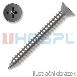 Countersunk head tapping screw 4,8 x 70 mm, DIN 7982C, PH cross recessed, galvanized