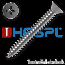 Countersunk head tapping screw 5,5 x 25 mm, DIN 7982C, PH cross recessed, galvanized