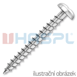 Chipboard screw 5,0x16mm PZ2, galvanized, full thread, panhead
