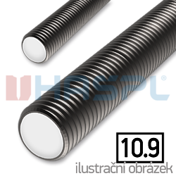 Threaded rod DIN976 M27x1000, cl.10.9, plain