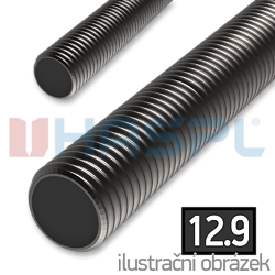 Threaded rod DIN975 M18x1000, cl.12.9, plain