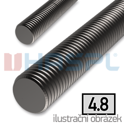 Threaded rod DIN976 M10x1000, cl.4.8, bright