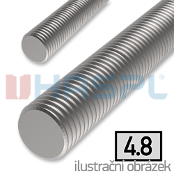 Threaded rod DIN976 M4x1000, cl.4.8, galvanized