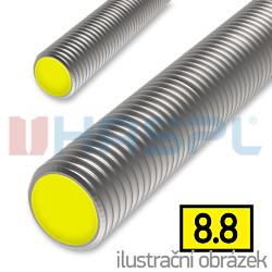 Threaded rod DIN976 M12x1000, cl.8.8, galvanized