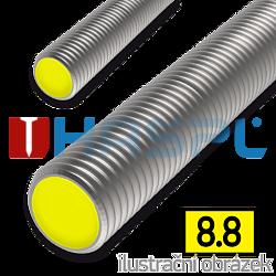 Threaded rod DIN976 M8x1000, cl.8.8, galvanized