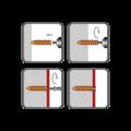 Polystyren plug HDP 60, 23x58 mm, polyamid - 2/2