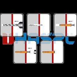 Hammer-in plug 10x100 mm countersunk head, polypropylene - 2