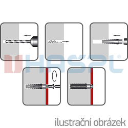 Hmoždinka plechová HP 6x32mm - 2