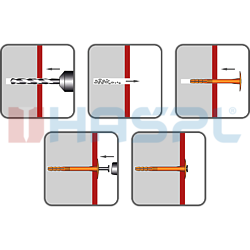 Insulation plug TTH, 10/60x110mm, polypropylen - 2