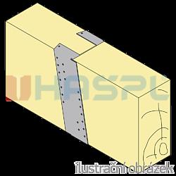 Gerber connector, slant 220x30x75x2,0 - 2