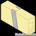 Gerber connector, slant 220x30x75x2,0 - 2/3