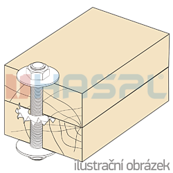 Press-in timber connector, double sided 95/36x1,5 - 2