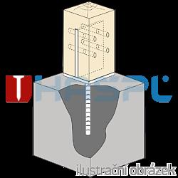 Anchor base to concrete type T 90x90x4,0 - 2