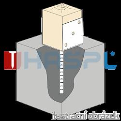 Anchor base to concrete type U 140x120x4,0 - 2