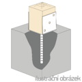 Anchor base to concrete type U 140x120x4,0 - 2/3
