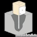 Anchor base to concrete type U 120x100x4,0 - 2/3