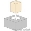 Pillar base 80x80x250x4,0 M24 - 2/2