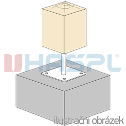 Pillar base loose nut 80x80x330x4,0 M24 - 2
