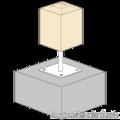 Pillar base loose nut 80x80x330x4,0 M24 - 2/3