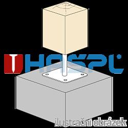 Pillar base 80x80x330x4,0 M24 - 2
