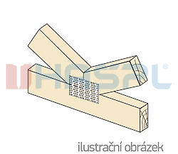 Jointing plate - single spikes 126x252x1,5 - 2