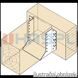 Joist hanger type 1 100x184x2,0 - 2