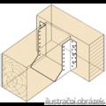 Joist hanger type 1 100x184x2,0 - 2/3