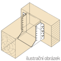 Joist hanger type 1 100x160x2,0 - 2/3