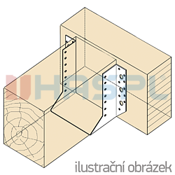 Trámová botka - třmen Typ1 80x150x2,0 - 2